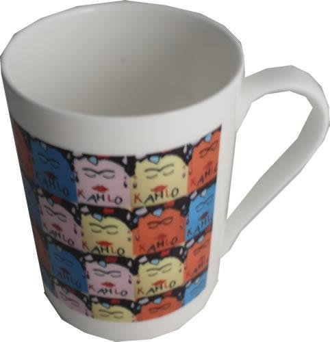 Dreamair KAHCH1 Frida Kahlo - Taza de desayuno (porcelana), diseño de hueso