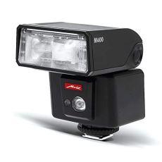 Metz 311183 - Flash M400 para Olympus - Panasonic (ISO 100 y 105 mm, luz de vídeo LED, zoom motorizado 24-105 mm), negro