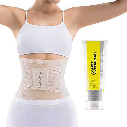 Waist Trainer Corset with Sweat Cream – Women's Slim Abs Waist Trimmer with Slimming Body and Skin Gel (Beige, S/M) 1