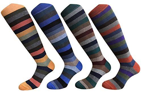 CriCri Socks Set 4 Paia Calze Calzini Lunghi Uomo in Caldo Cotone Alta Qualit Made in Italy - Taglia Unica (Combinazione 1)