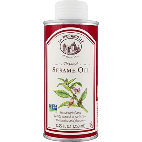 La Tourangelle Toasted Sesame Oil 8.45 Fl. Oz., All-Natural, Artisanal, Great for Stir Fry, Curries Noodles, or as a Marinade