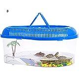 Fovely Cylindre de Tortue en Plastique avec poignée de Transport, réservoir de Reptile pour Aquarium Cage...
