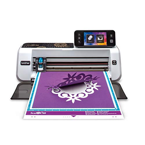 Brother CM350E ScanNCut 2 Cutting Machine with Scanner, Make DIY Vinyl Wall Dcor, Custom Stickers and Stencil Sheets with 631 Included Patterns, ScanNCut Online Activation Card