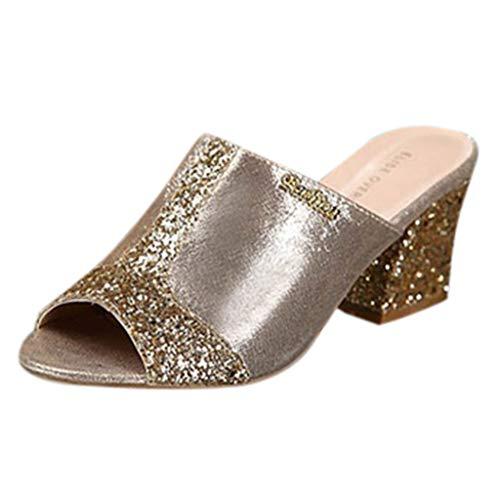 Sandales à Talons Hauts Mode pour Femmes, Manadlian Escarpins à Talons Hauts et à Bout Ouvert, Chaussures en Cristal, Chaussures de Sport Pantoufles