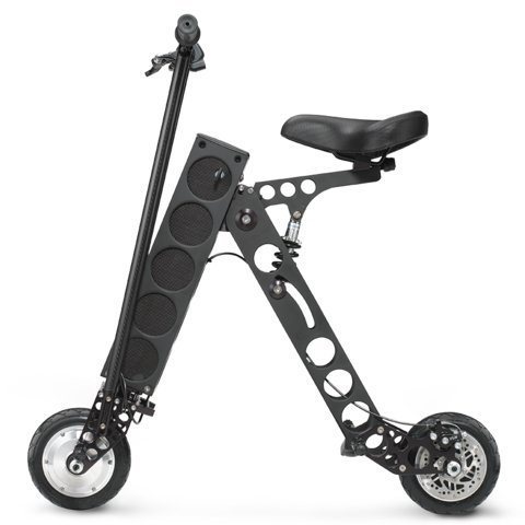 URB-E Folding Electric Scooter, Classic Black