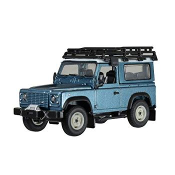 Britains 1: 32 Land Rover Defender Blue with Roof Rack & Winch - Collectable Farm Vehicle 4x4 Car Toy - Suitable from 3 Years