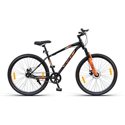 VECTOR 91 Granite-X40 27.5T Single Speed Hybrid Bike ( Black & Orange , Ideal For: 12+ Years , Brake: Disc )