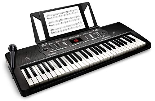 Alesis Melody 54   54-Key Electric Keyboard Piano with Speakers, Microphone, Music Rest, Educational Tools, 300 Sounds, 300 Rhythms and 40 Demo Songs