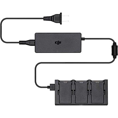 DJI - Carica Batterie Multiplo Per DJI Spark I Ricarica Fino 3 Batterie Simultaneamente I Ricarica Rapida I Facile Da Usare I Portatile - Nero