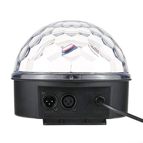 LED Discokugel DMX512 RGB Disco Kugel Projektor LED Digital Crystal Magic Ball Lichteffekt Sound Aktivierte 5 Farben LED Discokugel Party Licht Partybeleuchtung für halloween deko, Disco KTV Stab Club