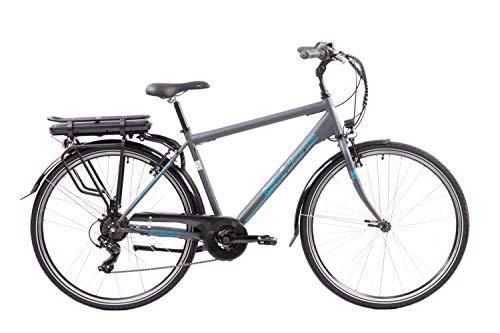 F.lli Schiano E- Light 1.0 Bicicleta eléctrica, Hombre, Antracita, 28''
