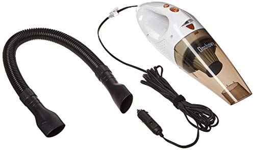Onshowy Car Vacuum Cleaner, with LED Light 12V 106W 4.3~4.5K PA Suction Stainless Steel Filter Wet&Dry Handheld Auto Vacuum Cleaner,14.76FT(5M) Power Cord Plus One Bag