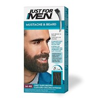 Just For Men Mustache & Beard, Beard Coloring for Gray Hair with Brush Included for Easy...
