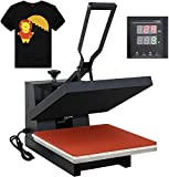 F2C 15' x 15' Black Heat Press Machine Digital Clamshell Transfer...