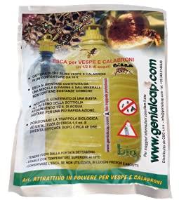 Esca naturale in polvere per vespe e calabroni, bustina da 50 gr, cod. BT110 (20 pezzi)