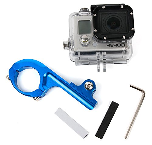 DURAGADGET Supporto Manubrio Bici per Action Camera HDCool Action Cam 4K | Campark ACT76 | DBPOWER EX5000 | Elephone | HC8000 | HDCool | ICONNTECHS IT | SEGURO | Victure | YI | Yuntab - Blu