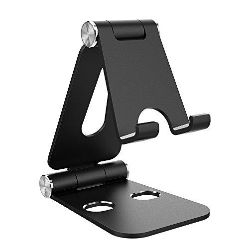 Simpeak Support Téléphone, Support Tablette, Support Dock Compatible pour téléphone Portable, Accessoires, Bureau, d'autres Smartphones Aluminium - Noir