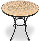 Jago Mosaiktisch rund oder eckig Stahl Mosaik - 3