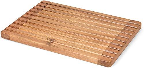 Rustler 2-in-1 Massives Schneidebrett Küchenbrett Braun mit Krümelrillen aus 100% FSC® Akazienholz mit Gitter und Saftrinne (37 x 25 x 2,1 cm)