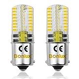 Bonlux 2-PCS BA15S 3 Watt 12V Ampoule LED DC Blanc chaud 3000K baïonnette...