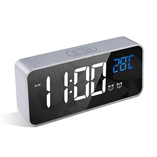 LATEC Reloj Despertador Digital, LED Pantalla Reloj Alarma...