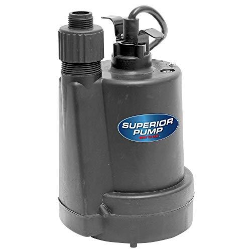 Superior Pump 91250 Utility Pump, 1/4 HP, Black