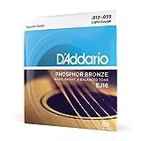 D'Addario EJ16 Phosphor Bronze Acoustic Guitar Strings, Light
