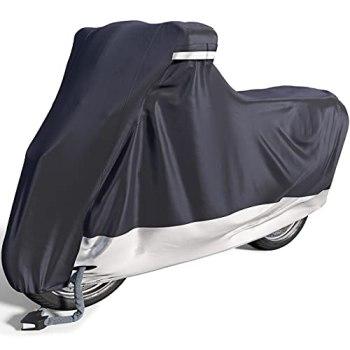 Funda para Moto de Velmia, cubremotos para Interior y Exterior [Tamaño L] Manta de Scooter Impermeable para el Invierno, Protege la Pintura y es Resistente al Calor