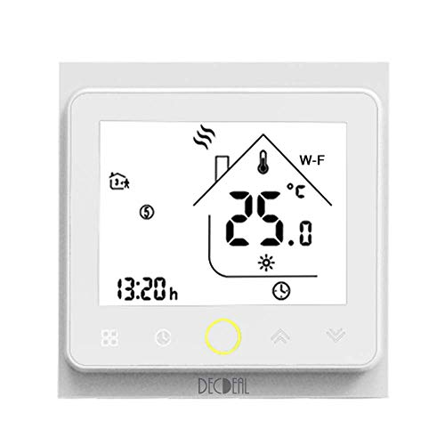Decdeal-Termostato WiFi para Caldera de Gas/Agua Termostato Inteligente programable -...