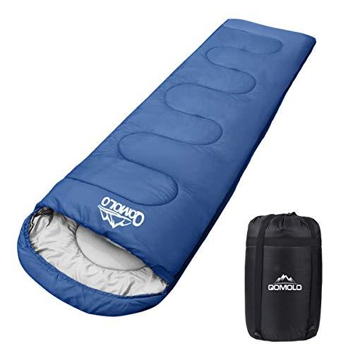 Qomolo Saco de Dormir para Acampar, Sacos de Dormir Rectangulares...