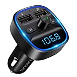 LENCENT Transmetteur FM Bluetooth, Bluetooth Lecteur MP3 Adaptateur Radio sans...