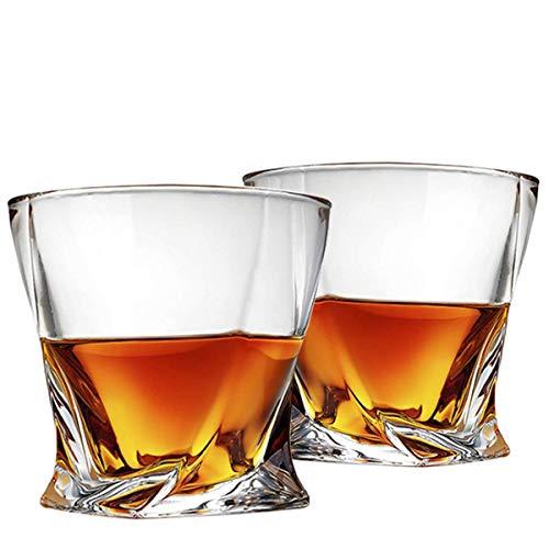 Cooko Twist Bicchieri Whisky, Ultra-Clarity Set di Bicchieri ,Lavabili in Lavastoviglie, Regali per...