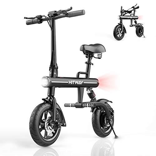HITWAY Vélo électrique, vélo Pliant électrique en Aluminium avec pneus de 12 Pouces, écran LED, Puissance du Moteur 250W, Convient aux Adultes et aux Adolescents