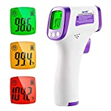 Termometro Digital Frente, Termómetro Infrarrojos sin Contacto para Bebés y Niños y Adultos,...