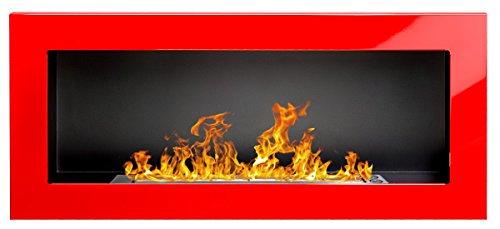 Bio Ethanol Fire BioFire Fireplace Modern 900 x 400 Red