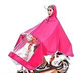 LYX@ Electric car Raincoat Poncho Bike Transparent Raincoat Adult Portable Outdoor Waterproof Breathable Pink (Color : Pink, Size : XXXL)