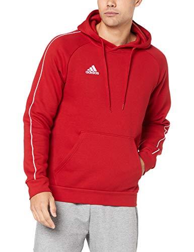 Adidas Core 18 HDE, Felpa con Cappuccio Uomo, Rosso (Power Red/White), M