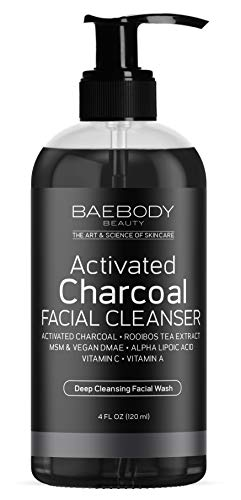 Baebody Activated Charcoal Facial Cleanser, 4 Ounces