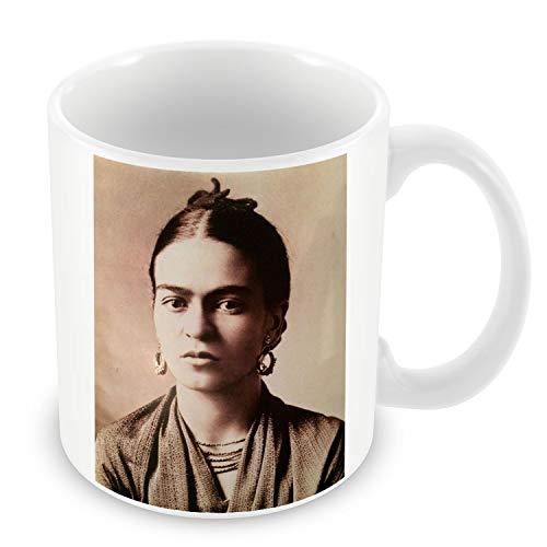 Taza de Cerámica Foto de la Famosa Estrella Frida Kahlo Pintor Original de la sepia 12