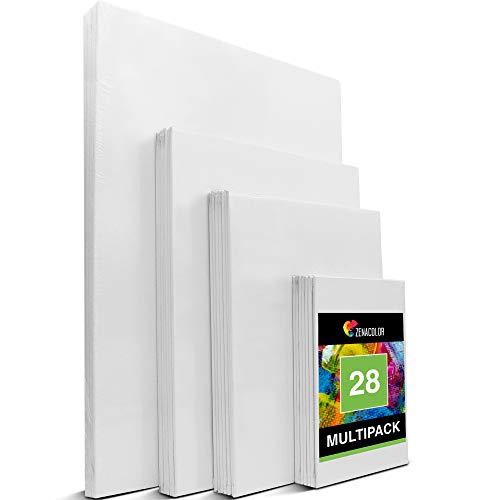 Zenacolor - Set de 28 Canvas - Laminas para Pintar Multisize