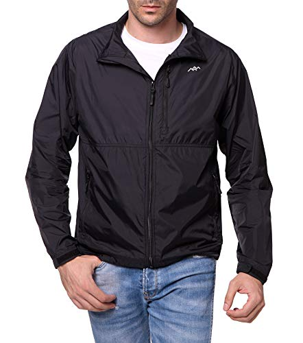 TRAILSIDE SUPPLY CO. Mens Lightweight Jacket Nylon Windbreaker Jackets with Zipper Pocket