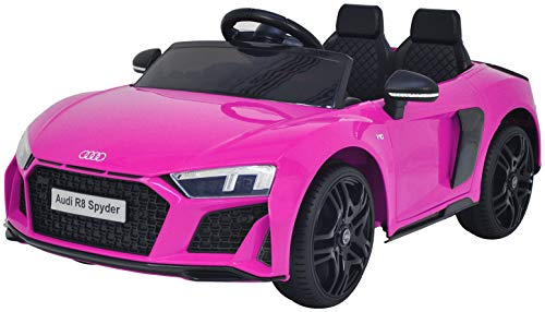 KALCO TOYS UK AUDI R8 12V RIDE ON CAR CHILDRENS RIDEON 2020 NEW MODEL RECHARGEABLE (PINK)