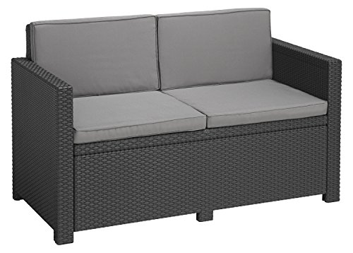 Allibert Lounge Sofa Victoria 2-Sitzer, graphit/cool grey
