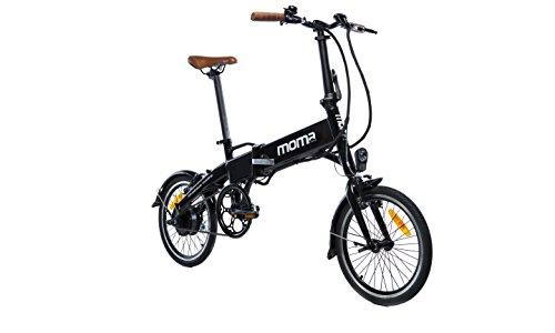 Moma Bikes Bicicleta Electrica, Plegable, Urbana E-16 TEEN, Aluminio,...