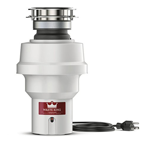 Waste King 9920 Continuous Feed Garbage Disposal with Power Cord, 1/2 HP