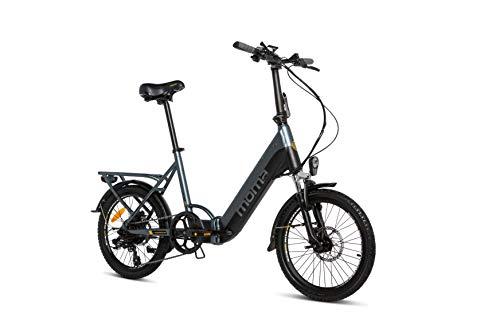 Moma Bikes Bicicleta Electrica Plegabe Ebike 20PRO, Aluminio, Shimano...