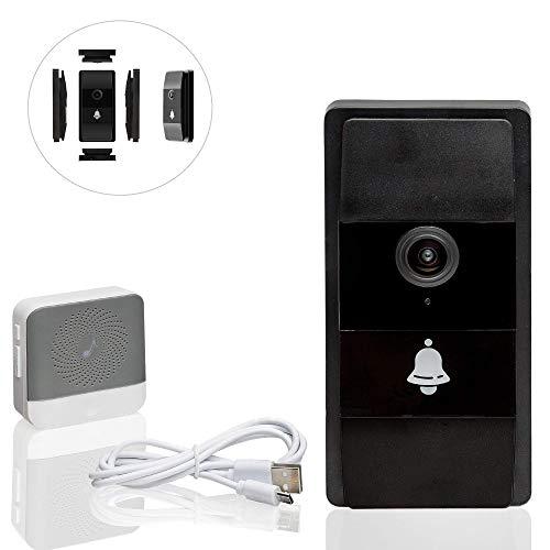 Safe2Home Türklingel Funk mit Kamera und Gegensprechanlage WLAN - Nachtsicht - Zugriff der Video Klingel per Smartphone App