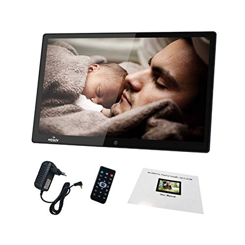 miracle digital 12-inch Photo Frame with Hi-def LCD Screen Premium Glass Finish   Play Music Video...