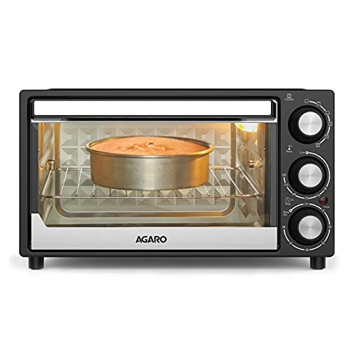AGARO GRAND Toaster Grill with Convection Cake Baking OTG with 5 Heating Mode (Black, 21Litre)