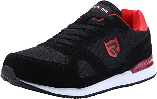 LARNMERN Stahlkappe Sicherheitsschuhe, Herren luftdurchlässige Leichte Anti-Smashing Schuhe Industrie und Handwerk, Schwarz, 43 EU (9 UK)
